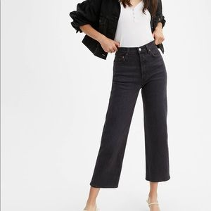 Levi's ribcage straight ankle jeans in Feelin' Edg